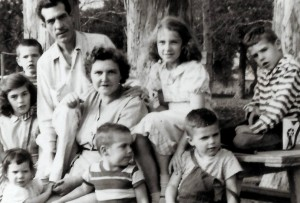 The Miller Family, 1954 (Avis with her parents and younger siblings).