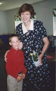 Young-mom me with my son, Andrew